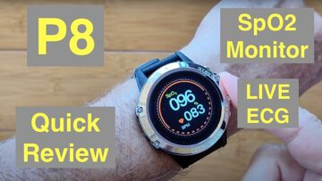Bakeey P8 Live ECG/PPG BP Health/Fitness Smartwatch with Independent SpO2 Monitor: Quick Overview