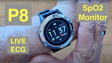 Bakeey P8 Live ECG/PPG BP Health/Fitness Smartwatch with Independent SpO2 Monitor: Unbox & 1st Look