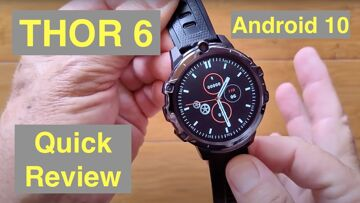 ZEBLAZE THOR 6 Android 10 MT6762 Dual Cameras 4GB/64GB Face Unlock 4G Smartwatch: Quick Overview