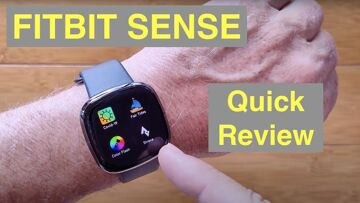 FITBIT SENSE GPS Track BT Call AFib & ECG Stress Mgmt Skin Temp Fitness Smartwatch: Quick Overview