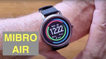 SIMSON MIBRO AIR with Rotating Dial IP68 Waterproof Bluetooth 5.0 Sports Smartwatch: Unbox& 1st Look