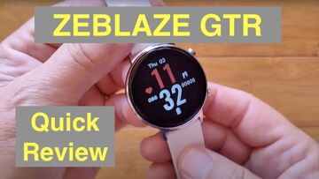 ZEBLAZE GTR 3ATM Waterproof Blood Pressure Female Cycle 30 Day Battery Smartwatch: Quick Review