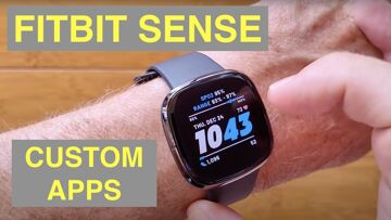 FITBIT SENSE Fitness Smartwatch Close Look at Mr. Ticks' Favorite FREE 3rd Party Custom Apps