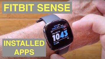FITBIT SENSE Fitness Smartwatch Detailed Overview and Close Look at Installed Apps