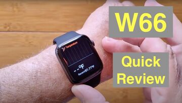 FINOW W66 Apple Watch Shaped Bluetooth Calling Temperature Health Smartwatch: Quick Overview