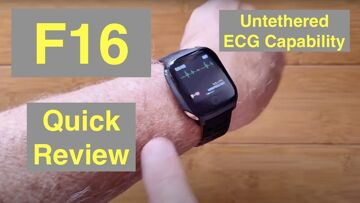 Bakeey F16 ECG+PPG Remote Charts IP67 Waterproof BP/HR/SpO2 Health Smartwatch: Quick Overview
