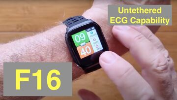 Bakeey F16 ECG+PPG Remote Charts IP67 Waterproof BP/HR/SpO2 Health Smartwatch: Unboxing and 1st Look
