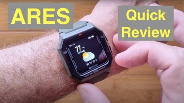 Zeblaze ARES 3ATM Waterproof Swimming Health/Fitness Rugged Smartwatch: Quick Overview
