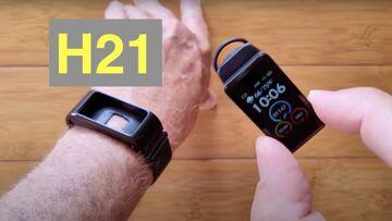Bakeey H21 Combo Smart Health Bracelet / Earphone, BT5, Temperature, BP Smartwatch: Unbox & 1st Look
