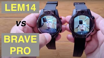 LEMFO LEM14 vs ROGBID BRAVE PRO: Android 10 MT6762 Dual Cam 4GB/64GB 5ATM Waterproof 4G Smartwatches