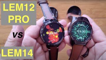 LEMFO LEM14 vs LEM12 PRO: Android 10 MT6762 Dual Cam 4GB/64GB 5ATM Waterproof 4G Smartwatches