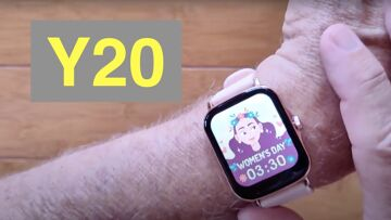 MISIRUN Y20 Apple Watch Shaped Health Fitness Soprts Smartwatch: Unboxing and 1st Look