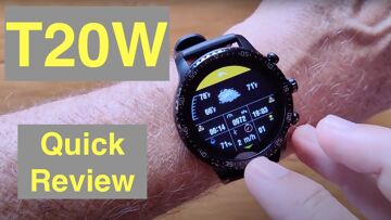 TINWOO T20W 5ATM Waterproof Always On Screen Qi Charging Fitness Sports Smartwatch: Quick Overview