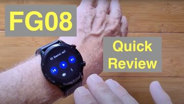 Bakeey FG08 Bluetooth Calling Music Storage IP68 Waterproof Sports Smartwatch: Quick Overview