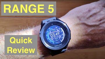 NORTH EDGE RANGE 5 GPS Altimeter Compass 5ATM Diver's/Adventurer's Sports Smartwatch: Quick Overview
