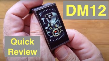DM12 1.9″ 3D curved screen IP68 Waterproof Blood Pressure Health Sports Smartwatch: Quick Overview