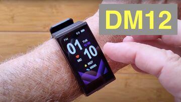 DM12 1.9″ 3D curved screen IP68 Waterproof Blood Pressure Health Sports Smartwatch: Unbox & 1st Look