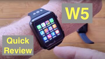 W5 Square Specialty Android 9 Smartwatch 4G + microSD + removable battery: Quick Overview