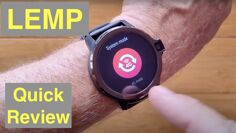LEMFO LEMP Android 9 Top (Dual) Cameras 4GB/64GB SpO2 New Tech Smartwatch: Quick Overview