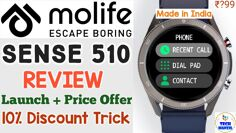 Molife sense 510 smartwatch – Best smartwatch under 5000 ? molife sense 510 review | molife 510