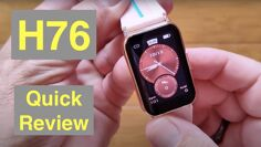 """LOKMAT TIME H76 1.57"""" Hyperboloid Screen Fitness/Health Blood Pressure Smartwatch: Quick Overview"""