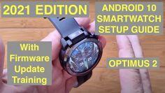 Androïde 10 Guide de configuration initiale de smartwatch (avec la réinitialisation des données d'usine) mettant en vedette le Kospet Optimus 2